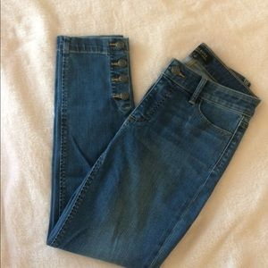 Talbots Anchor Button Ankle Jeans